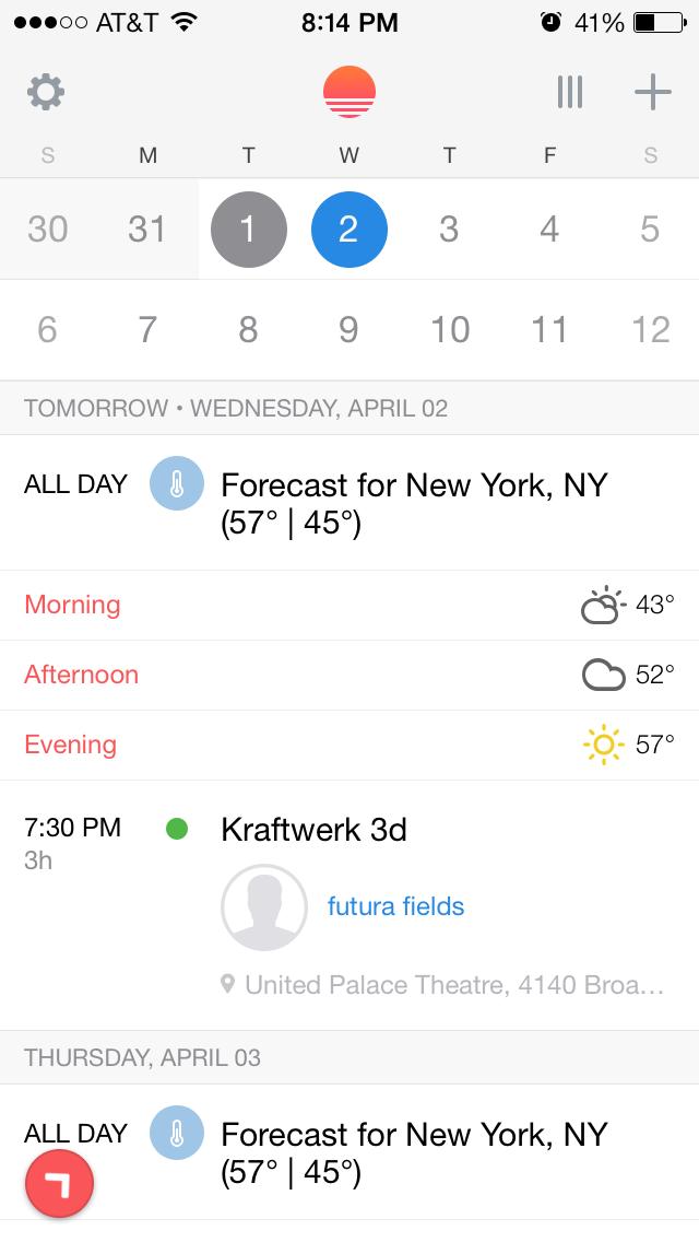 Sunrise Calendar